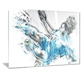 Designart Soccer Power Kick Metal Wall Art - MT2516 - 40x30