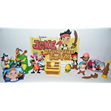 Disney Jake and the Never Land Pirates Deluxe Party Favors Goody Bag Fillers Set of 14 with 12 figures, 2 Never Land ToyRings Featuring Hook, Tick-Tock, Jake, Izzy and More!