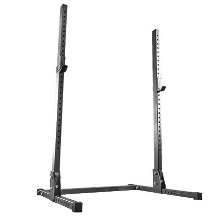 Garage gym package squat rack folding deluxe u home living