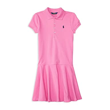 Ralph Lauren Girls Pink Polo Dress (2 2T)