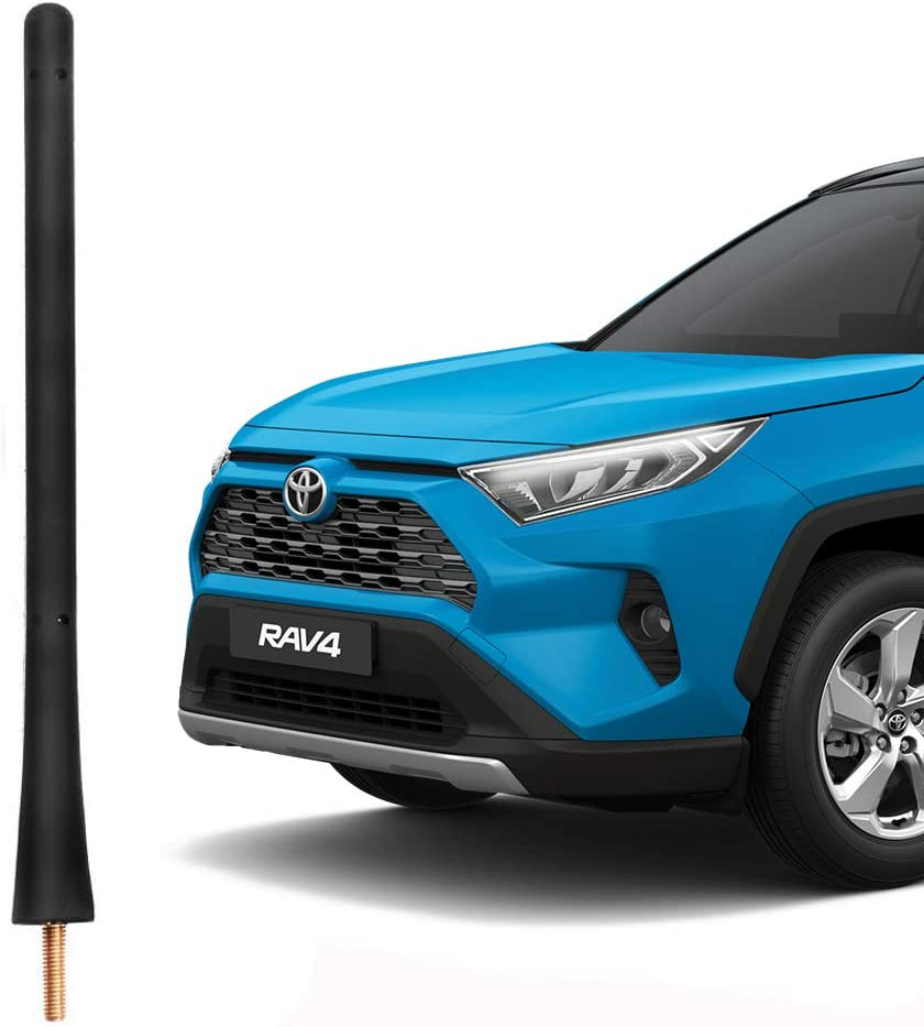 VOFONO Flexible Rubber Antenna Compatible with 2001 to 2015 Toyota Rav4 Prius Corolla Matrix Solara Yaris 2004 to 2018 Mazda 3 6