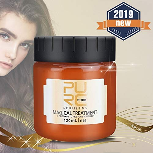 OUTERDO Hair Treatment Mask, Magical Keratin Hair Mask Hair Roots Treatment Deep Hair Conditioners 5 Seconds Recover Elasticity Hair Repairs Damage Hair Root for Dry Damaged Hair
