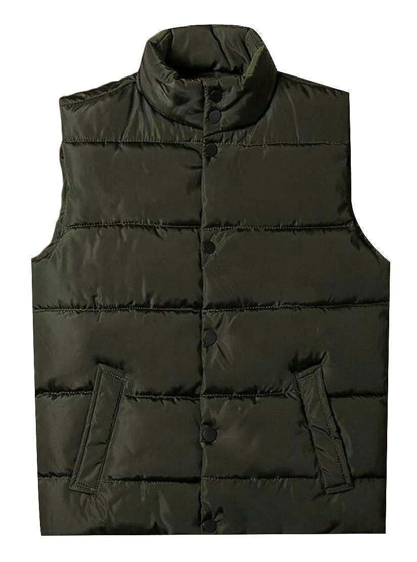 Keaac Mens Packable Puffer Vest Lightweight Sleeveless Jacket Outwear