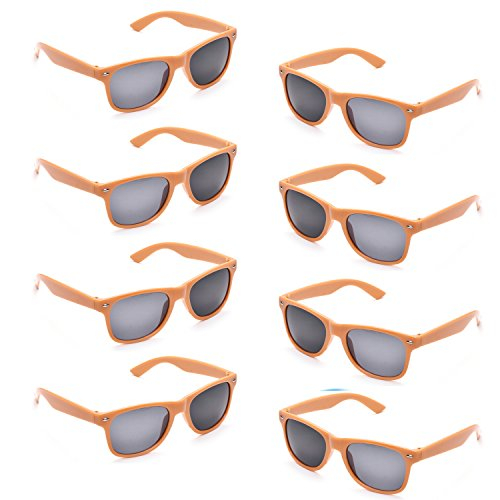 Orange Sunglasses Bulk - Neon Colors Party Favor Supplies Unisex