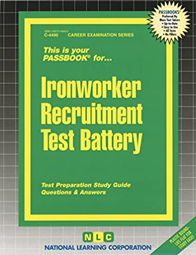 ironworker recruitment test battery passbooks career examination rh amazon com nccer ironworker study guide nccer ironworker study guide