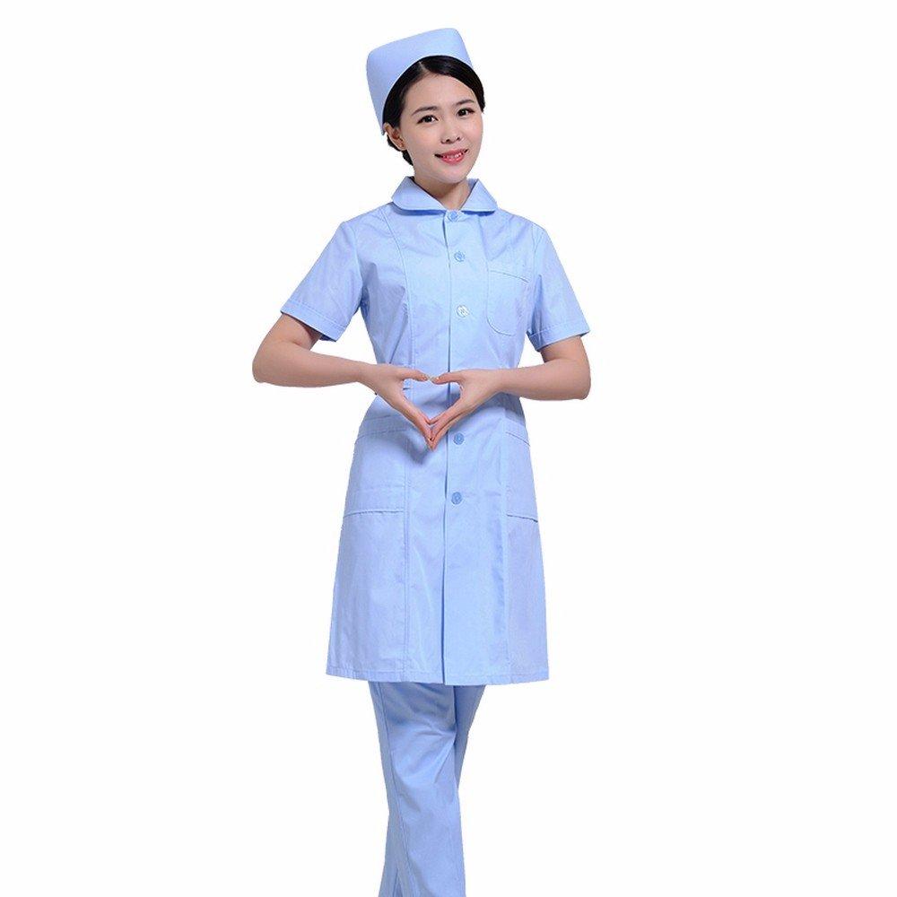 Xuanku Las Enfermeras Desgaste Manga Larga Manga Corta, Enfermeras, Farmacia Vestidos, Trajes De Belleza, Batas Blancas, Ropa De Trabajo: Amazon.es: Ropa y ...