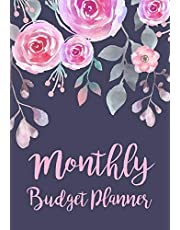 Monthly Budget Planner: Expense Finance Budget By A Year Monthly Weekly & Daily Bill Budgeting Planner And Organizer Tracker Workbook Journal | Blue Floral Watercolor Design