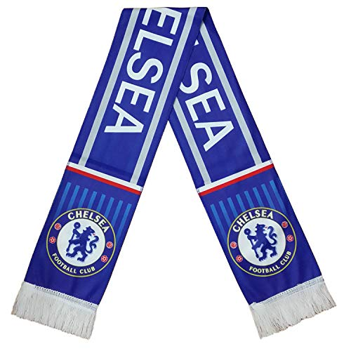 ZQfans Football Club Soccer Team Scarf Gift/Souvenir Accessory for Soccer Fans Double Side (Chelsea, 57x6.3inch)