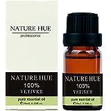 Nature Hue - Vetiver Essential Oil 10 ml, 100% Pure Therapeutic Grade, Undiluted