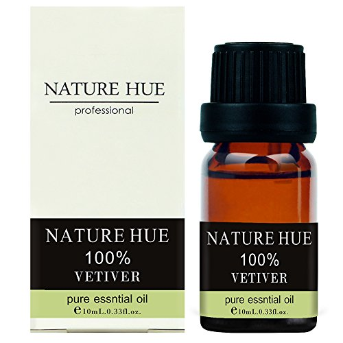 Nature Hue - Vetiver Essential Oil 10 ml, 100% Pure Therapeutic Grade, Undiluted