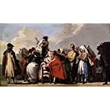 Canvas Prints Of Oil Painting ' Tiepolo Giandomenico El Charlatan Veneciano Ca. 1765' 8 x 14 inch / 20 x 35 cm , High Quality Polyster Canvas Is For Gifts And Bath Room, Gym And Study Room Decoration