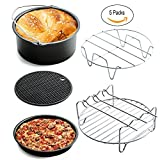 Appliances : Universal Air Fryer Accessories for Phillips Gowise Cozyna etc, 5 Pcs of kit Fit all Standard Air Fryer 3.2-5.8QT