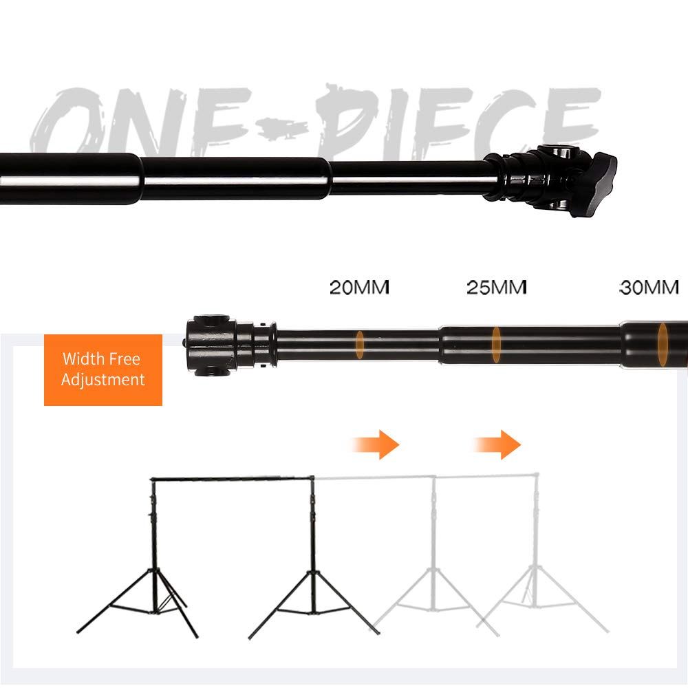 SH Telescopic Tube Background Support Pole and Stand, 9 x 10FT Heavy Duty Background Stand Backdrop Support System Kit with Carry Bag for Photography Photo Video Studio by SH (Image #1)