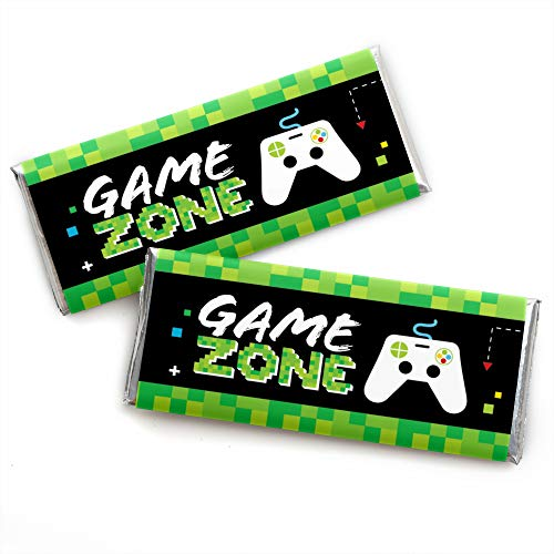Game Zone - Candy Bar Wrapper Pixel Video Game Party or Birthday Party Favors - Set of 24 (Dots Candy Bar Wrappers)