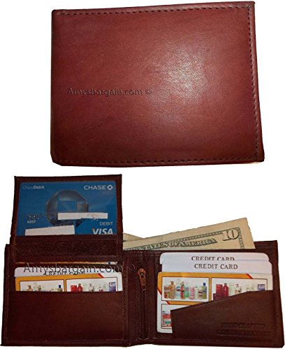 2 Lot Purse 10 Leather 2 Bifold Ids Change Card of BNWT Man's Billfold Wallet 3 rrqpn5Ax