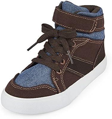 The Children/'s Place Kids/' Bb BRWN Rockstar Sneaker