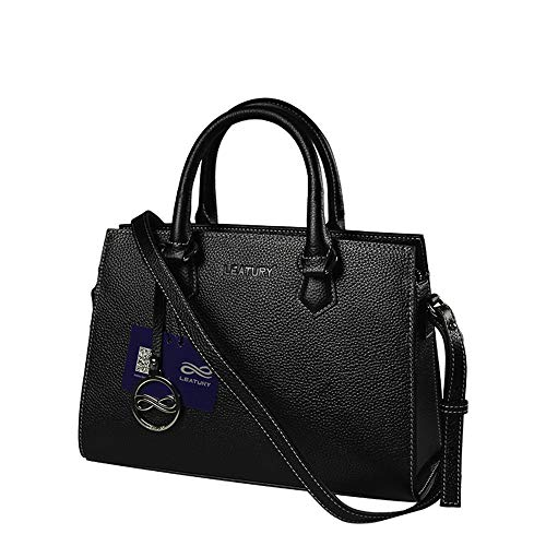 cosmetic LEATURY Handbag leather bag women's notebook �� bag shoulder bag handbag bag Black tote RwTwHx4