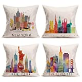 Best Cushion Cover Body Pillow For Men - Aremazing Retro Vintage World Famous Building Throw Pillow Review