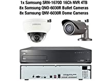 Samsung 2MP CCTV Security Package 16 Camera Full HD 1080p IP PoE + 4TB NVR Kit