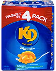 Kraft Dinner Original Macaroni & Cheese, 225g Box, 4 Count
