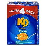 Kraft Dinner Original Macaroni & Cheese, 225g Box, 4 Count