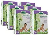 Aleva Naturals Bamboo Baby Diapers Economy Pack, Size 3, 168 Count