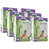 Aleva Naturals Bamboo Baby Diapers Economy Pack, Size 3, (13-24 lbs/6-11 kgs) 168 Count