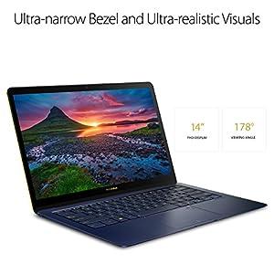"ASUS ZenBook 3 Deluxe Ultraportable Laptop, 14"" Full HD , Intel Core i7-8550U, 16GB RAM Processor, 512GB NVMe SSD, Windows 10 Pro, Royal Blue, UX490UA"