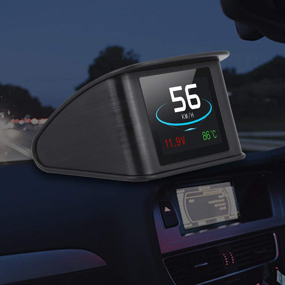 P10 Universal Car HUD Head Up Display OBD2 Speed Warning RPM Fuel Consumption Projector Acouto HUD Display
