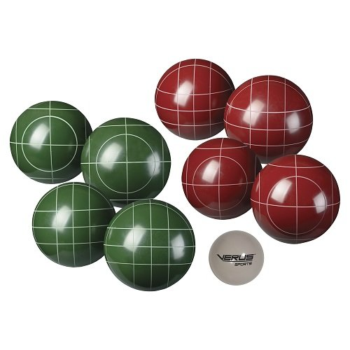 Verus Sports Expert Bocce Ball Set with Easy Carry Nylon Case (9-Piece), 107mm