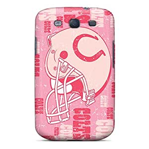 Scratch Protection Cell-phone Hard Covers For Samsung Galaxy S3 (OHt23121QmRr) Unique Design Realistic Indianapolis Colts Skin