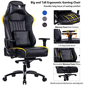 Amazon Com Killabee Big And Tall 400lb Memory Foam Gaming