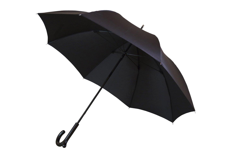 ランブレラ 全5色 長傘 手開き ブラック 5本骨 65cm 日本製 グラスファイバー骨 2 B018UBIP1Q ブラック ブラック