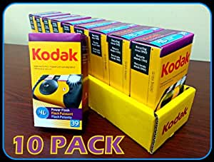 Kodak HD Power Flash Single Use 35mm camera - 10 PACK (390 EXPOSURES)