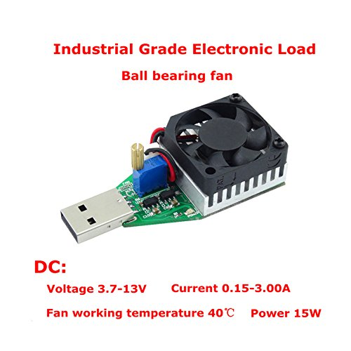 Davitu DC3.7-13V 15W Cilvil And Industrial Grade Electronic Load Resistor USB Interface Discharge Battery Test Capacity Fan Adjustable Current - (type: B) -
