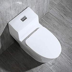 Woodbridge T 0001 Dual Flush Elongated One Piece Toilet