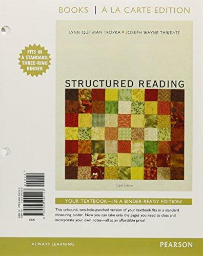 Structured Reading: Books a la Carte Edition