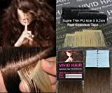 20pcs 22″ Inches Remy Seamless Super Thin Tape Skin Weft PU Straight Human Hair Extensions Medium Brown #4