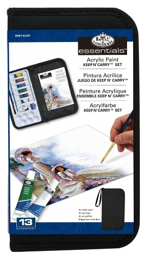 Royal & Langnickel Acrylic Paint Essentials Keep N' Carry Se