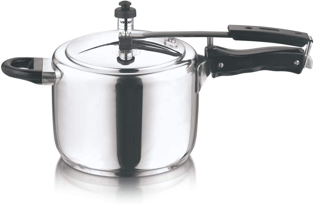 vinod stainless steel inner lid sandwich bottom pressure cooker