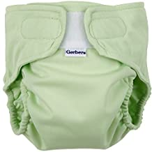 Gerber All-in-One Reusable Diaper with Insert Starter Set, Sage, Small by Gerber