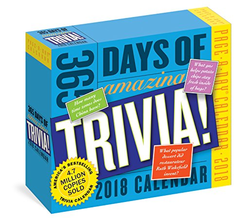 365 Days of Amazing Trivia! Page-A-Day Calendar 2018 cover