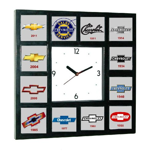 history-of-chevrolet-chevy-bowtie-garage-man-cave-office-clock