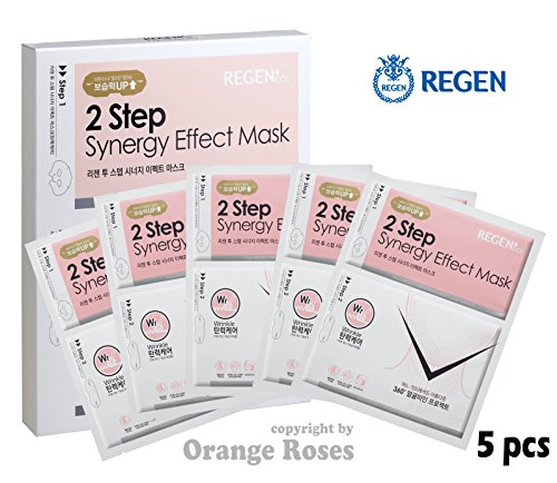 Jaw Line (REGEN 2 Step Synergy Effect Mask - WRINKLE CARE 37g x 5 Pcs, Korean Facial Mask Sheet, Authentic Cosmetic from Famouse Regen Plastic Surgery Center in South Korea)