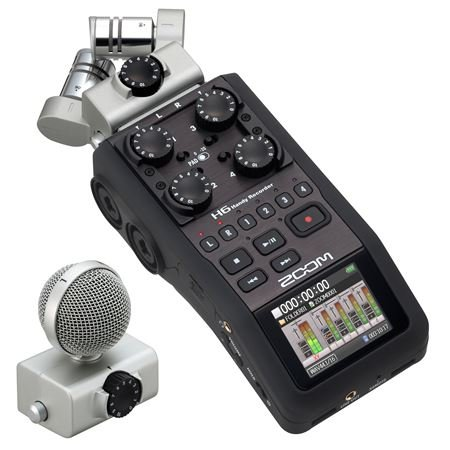 Zoom H6 Six-Track Portable Recorder (Best Portable Field Recorder)