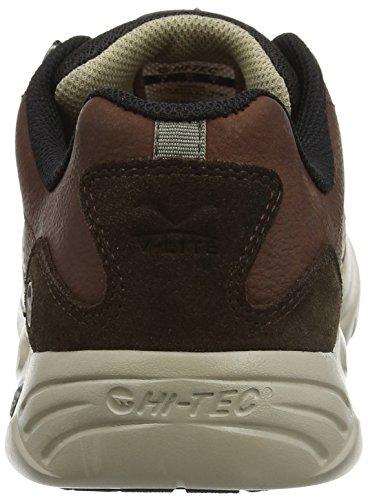 Hi-Tec V Walk-Lite Tenby, Zapatillas de Senderismo para Hombre Marrón (Chocolate)