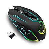 Wireless Gaming Mouse,UHURU USB LED Mouse Ergonomische Programmierbar 5 Adjustable DPI (Standard 1200/2400/3500/5500/7200) With 5 Buttons, For Game Players