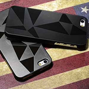 Mirror Aluminum case for iphone 5 5S dhl 50 pcs/lot Two Tone Metal Hard Cover for iphone5g Drop Ship --- Color:style 3 black