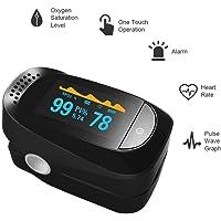 SYANG Oxímetro de Dedo, Pulse Oximeter, Punta Precisa de Dedo Pulso Oxímetro Digital SP02 Monitor de Frecuencia cardíaca,Cuatro direcciones de Pantalla, Seis Modos de Detección