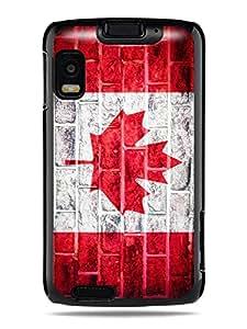 "GRÜV Premium Case - ""Retro Vintage Brick Wall Canada Canadian Flag"" Design - Best Quality Designer Print on Black Hard Cover - for Motorola Atrix 4G MB860 Olympus"